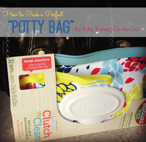 How to pack a Potty bag for potty training on the go