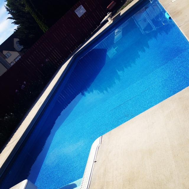 Summer family fun - pool time!