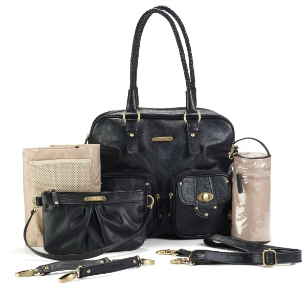 "timi and leslie diaper bag - works as a stylish bag for mom, or ""potty bag"" for on-the-go potty training!"