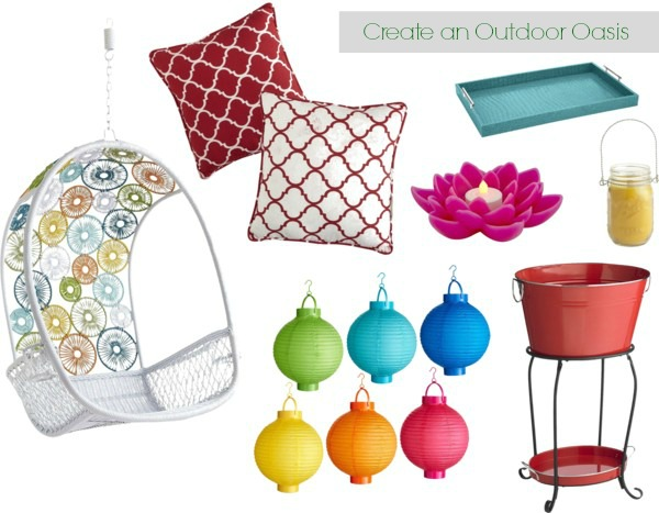 make over your outdoor space - bright colors, fun, party