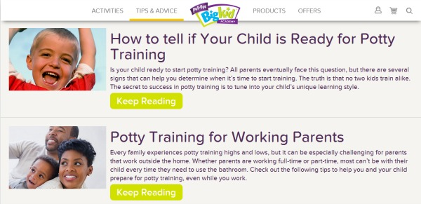 Potty training tips from experts