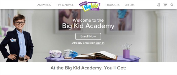 Pull-Up's Big Kid Academy Homepage - Potty training tips!