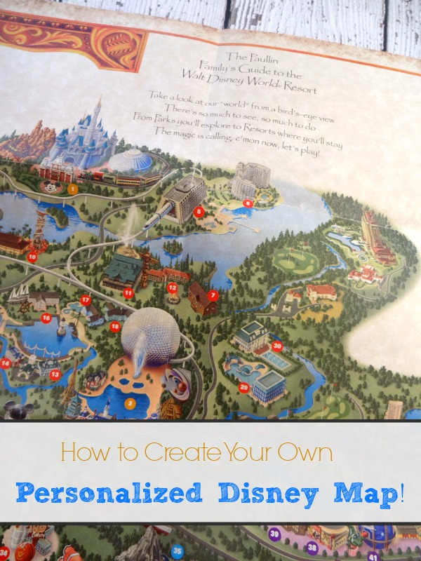 How to get a customized Disney World Map