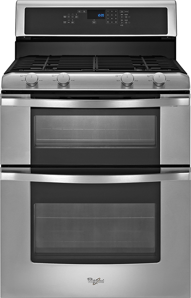 Whirlpool Self-Cleaning Double Oven Gas Range