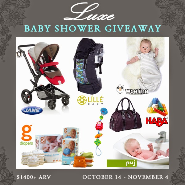 Luxe Baby Shower Giveaway – Over $1,400 in Prizes! #LuxeBaby