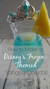 Elsa Cocktail - How to make a Disney's Frozen Themed Sangria Cocktail