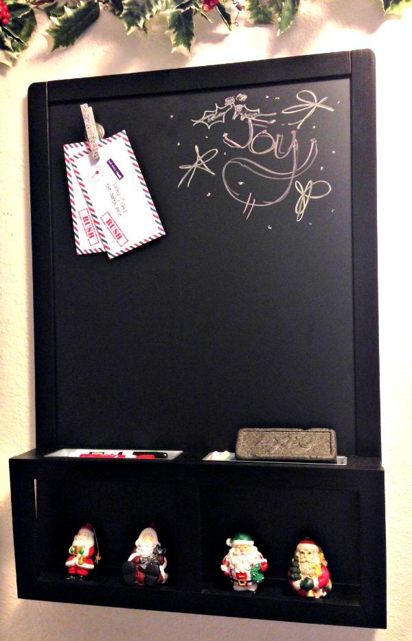 IKEA chalkboard, Command Center