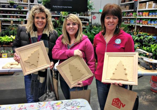 Ladies at Home Depot workshop