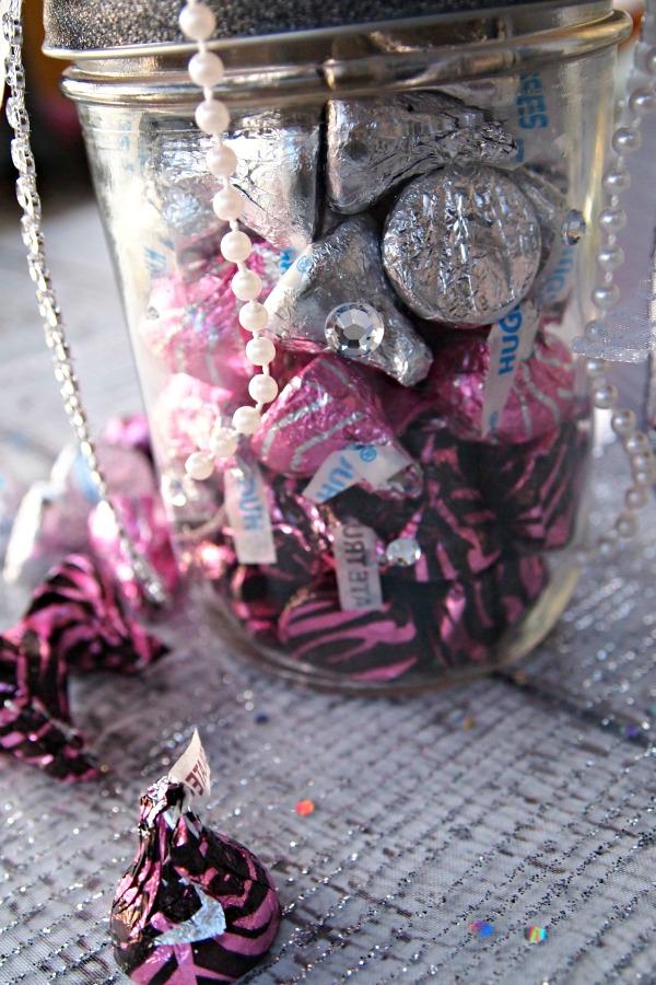 Candy in a mason jar