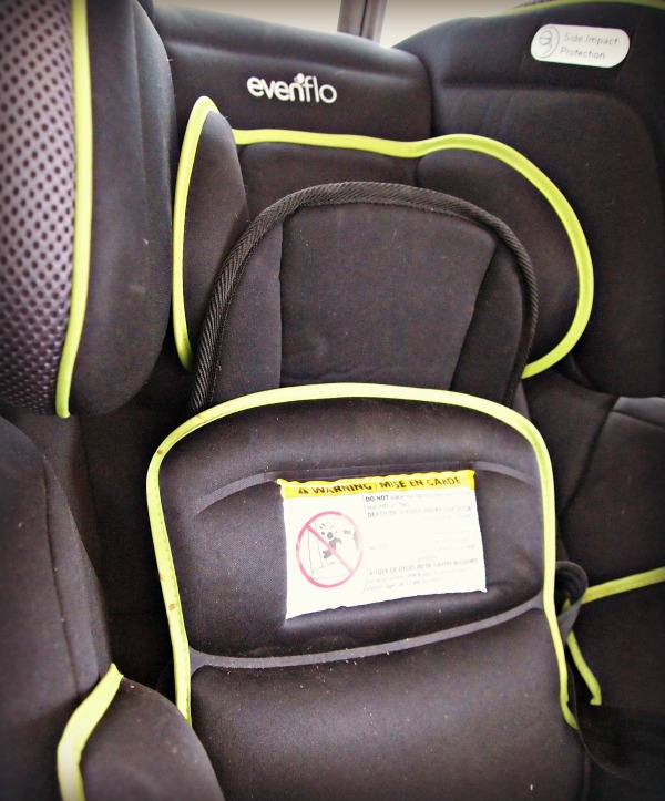 Car seat with 3 layers of protective cushions with gel technology