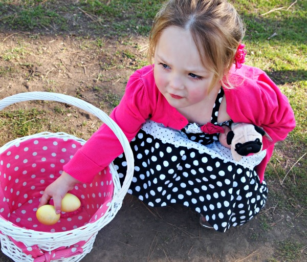 Polka dot Easter basket and outfit