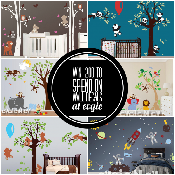 $200 on Wall Decals at Evgie Giveaway