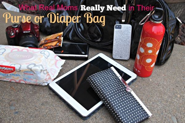 What moms really need in a diaper bag or purse to be prepared for anything - fun tips!