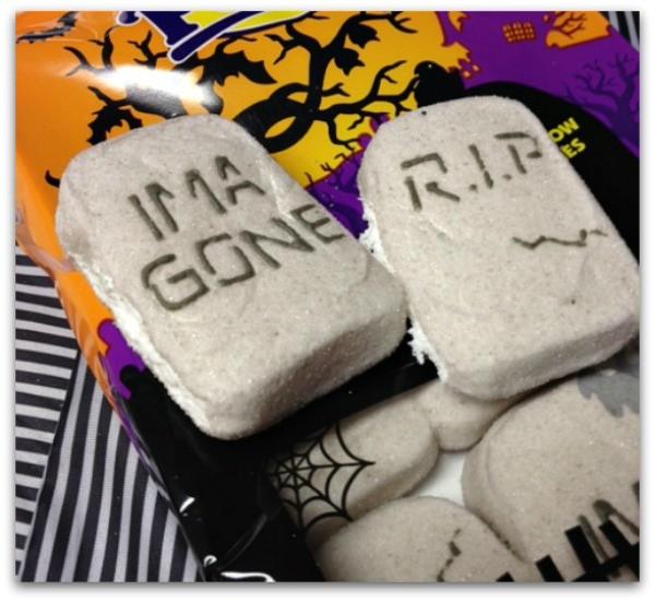 Peeps Halloween tombstones