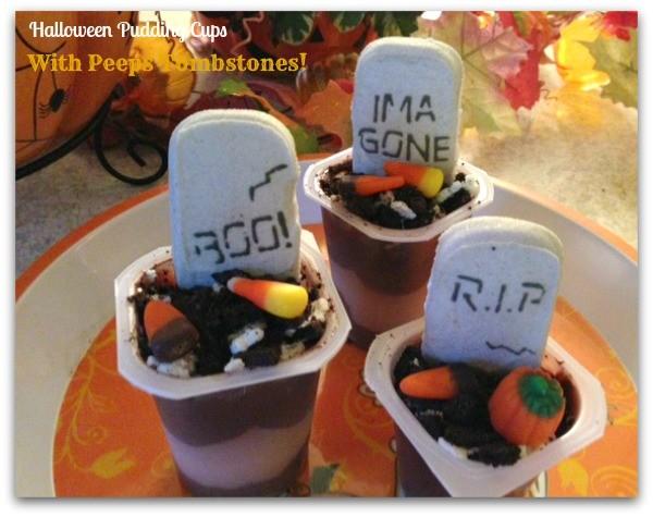 Peeps halloween pudding cup dessert 2