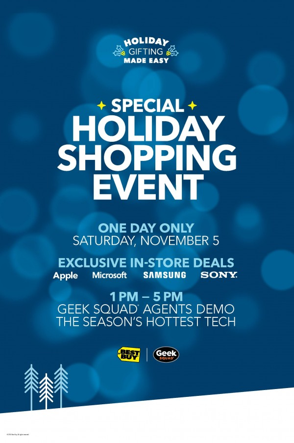 Best Buy Deals - in-store one-day shopping event