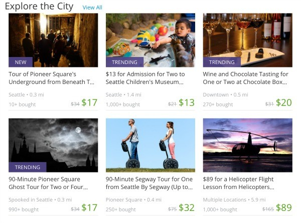 Groupon Experience Gift Ideas