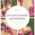 DIY Luau Flower Hair Clips and Beach Bag