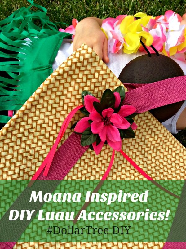 Moana Inspired DIY Luau Accessories #DollarTree DIY