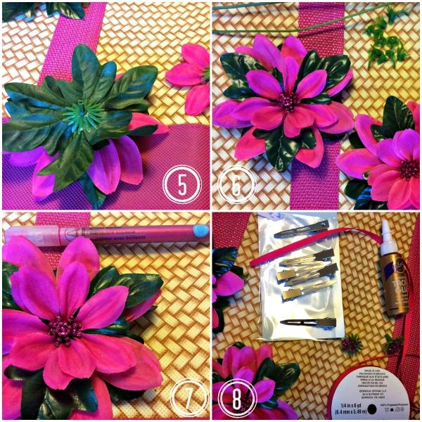 Creating DIY floral Moana style tropical flower accessories