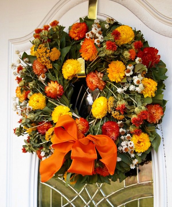 Fall flower wreaths
