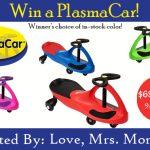 Plasma Car Giveaway!!