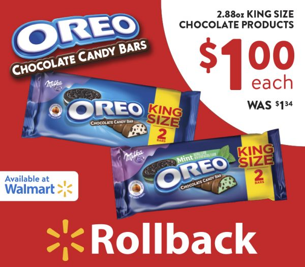 #kingsizerollback, OREO chocolate, OREO candy bar, candy deals