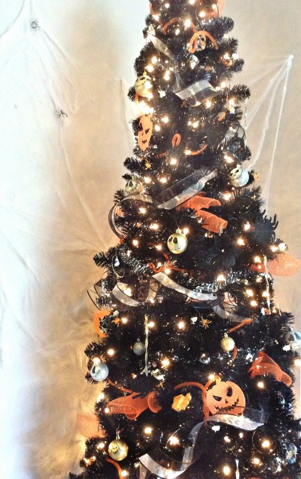 diy nightmare before christmas black tree
