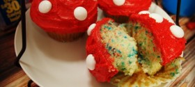 Smurf Cupcakes and Family Night Ideas