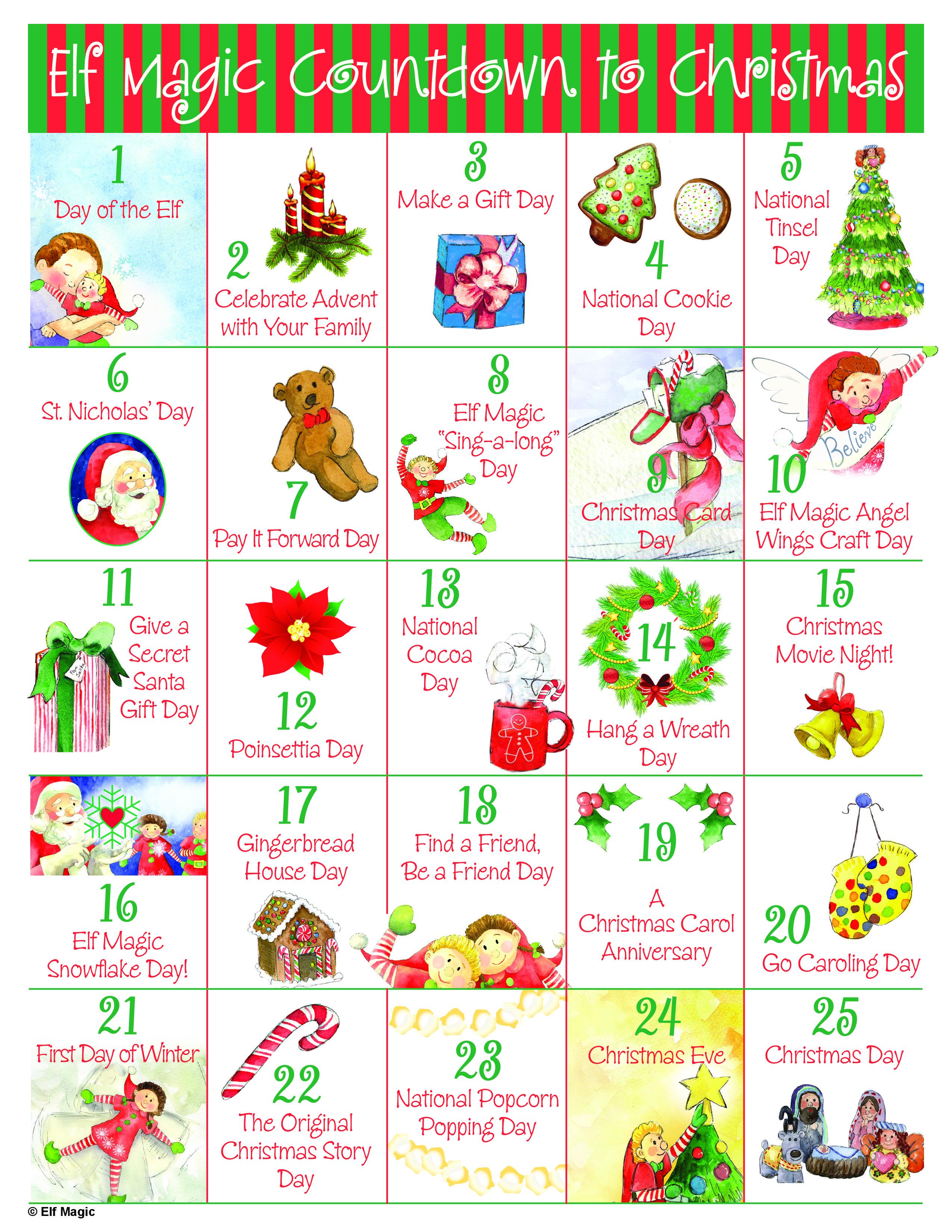 Free Countdown to Christmas Advent Calendar