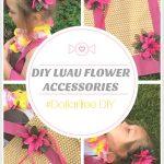 DIY Luau Flower Hair Clips and Beach Bag